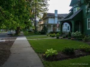 Owego village sidewalk