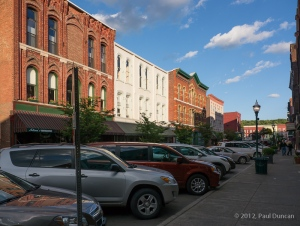 cars parked along Lake Street in Owego