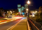 Owego Streets and Courhouse At Night