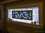 Stained glass panel by James Overhiser