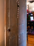 Period door stripped of layers of paint