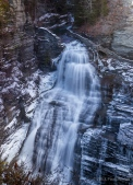 part of 115-foot high Lucifer Falls in January
