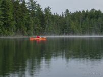Kayaking Whey Pond, Adirondacks, NY