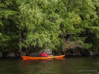 Kayaking Middle Saranac Lake, Adirondacks, NY