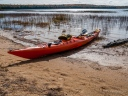 Kayak on Lake Lila Shore, Adirondacks, NY