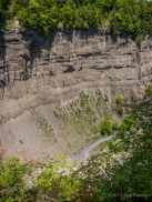 View of Gorge Trail at foot of Taughannock Falls