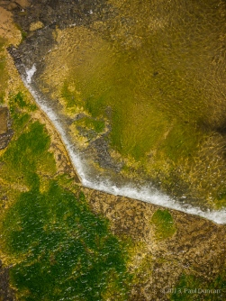 Vertical view of Taughannock Creek