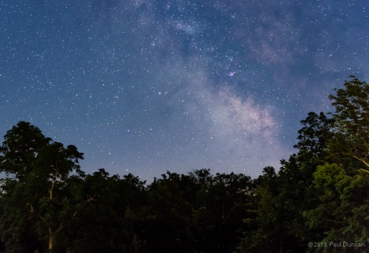 Milky Way seen from our deck