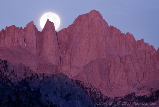 Full Moon, Sierra Nevadas