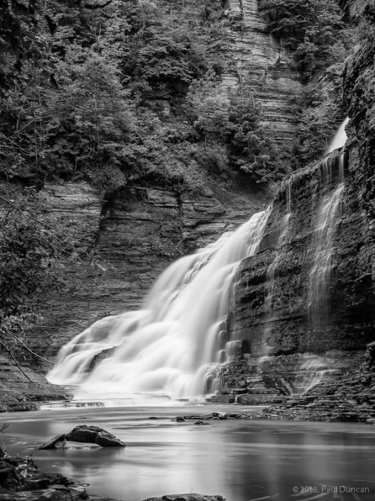 bottom of Lucifer Falls in Robert H. Treman Park