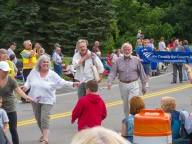 town officials march in the parade