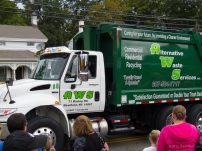 AWS waste hauler truck on parade
