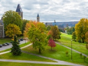Cornell campus from Johnson Museum of Art terrace