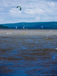 Wind sports on Cayuga Lake