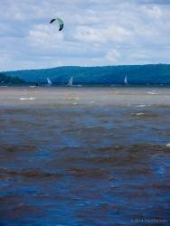 Wind sports on Cayuga Lake