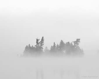 Morning mist on Little Tupper Lake