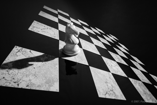 Knight on chess board