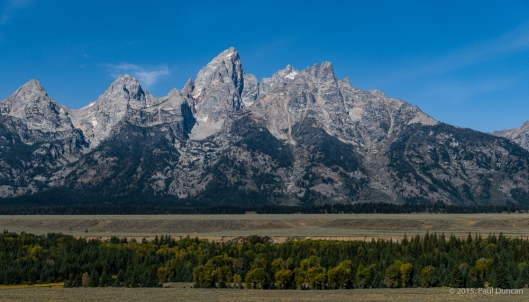 Grand Tetons from a park road turnout