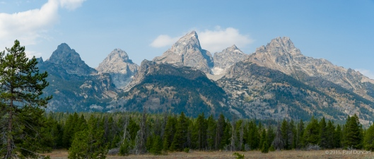 Grand Tetons from Teton Park Road