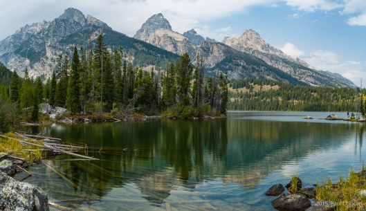 Grand Tetons from Taggart Lake