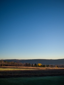 blue sky with vignetting