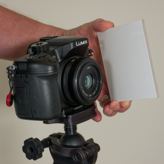 Opal glass used for shooting flat frames