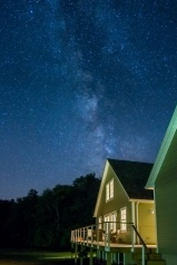 Milky Way Over House