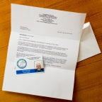 I have a letter from our county indicating I am unqualified to be a court clerk. I also have my court clerk ID card.