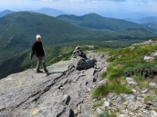 Lori descends Mount Marcy