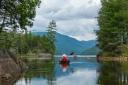 Heading north on Henderson Lake