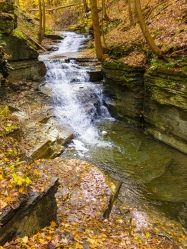 Waterfall on Lick Brook in Sweedler Preserve