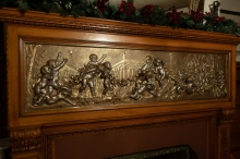 Plaster Frieze (Painted) Above a Fireplace