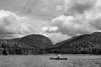 Canoeing Henderson Lake in the Adirondacks