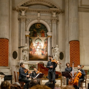 Vivaldi concert by The Interpreti Veneziani in the Church of San Vidal.