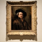 Rembrandt self portrait at the Metropolitan Museum of Art, displayed as part of the Dutch Masters exhibit.