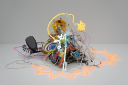 Neon, circuit-bent toys, custom circuitry