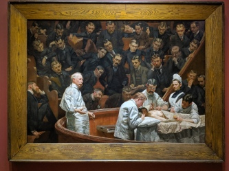 """Portrait of Dr. Hayes Agnew (The Agnew Clinic)"" by Thomas Eakins"