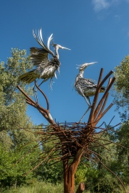 Heron Sculpture by James Seaman