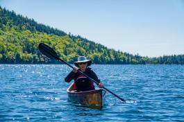 Lori Canoes Jordan Pond