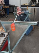 Lori's first attempt at glass blowing