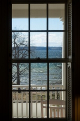 A view of Cayuga Lake from our room a the Inn