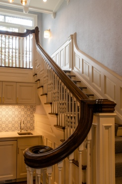 A replaced staircase at the Zabriskie House